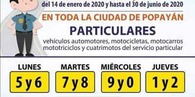 pico-y-placa-popayan-2020